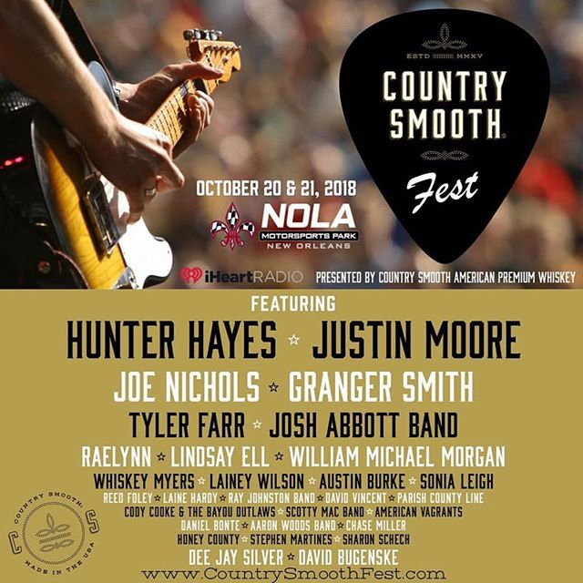 Country Smooth Festival poster with Stephen Martines New Orleans